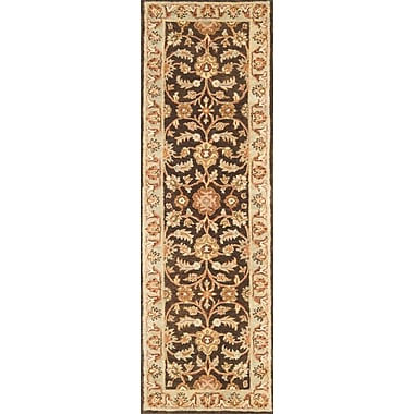 Continental Rug Company Meadow Breeze Brown/Light Spruce Rug; Runner 2'6'' x 8'