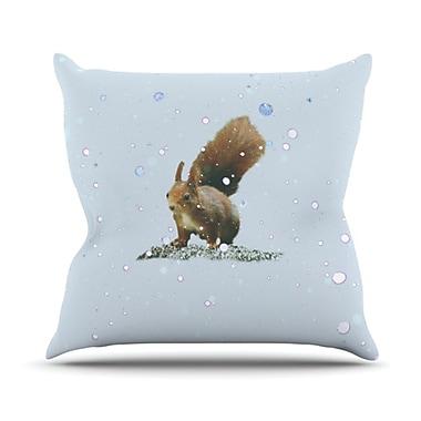 KESS InHouse Squirrel Throw Pillow; 26'' H x 26'' W