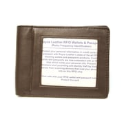 Royce Leather RFID Blocking Double ID Flat Fold Wallet; Coco