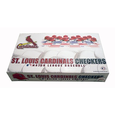 Rico Industries MLB Checker Set; St. Louis Cardinals
