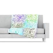 KESS InHouse Blue Bloom Softly for You Fleece Throw Blanket; 90'' L x 90'' W