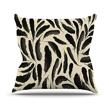 KESS InHouse Feather Pattern Throw Pillow; 20'' H x 20'' W