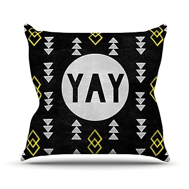 KESS InHouse Yay Throw Pillow; 26'' H x 26'' W