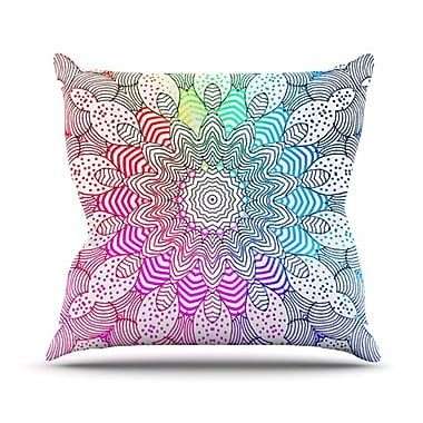 KESS InHouse Rainbow Dots Throw Pillow; 26'' H x 26'' W