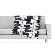 KESS InHouse Paint Tubes Fleece Throw Blanket; 60'' L x 50'' W
