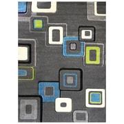 DonnieAnn Company Studio 607 Charcoal Geometric Area Rug; 7' x 5'