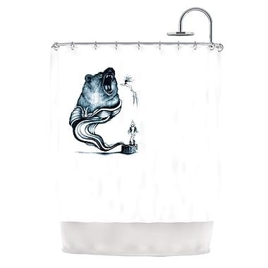 KESS InHouse Hot Tub Hunter Shower Curtain