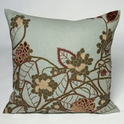 Kevin O'Brien Studio Hydrangea Embellished Throw Pillow; Topaz