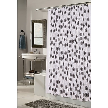 Carnation Home Fashions Vienna Shower Curtain; White and Black