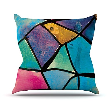 KESS InHouse Stain Glass 2 Throw Pillow; 20'' H x 20'' W