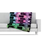 KESS InHouse Paint Tubes II Fleece Throw Blanket; 40'' L x 30'' W