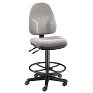 Alvin and Co. High Back Monarch Office Chair; Medium Gray