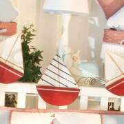Brandee Danielle Sail Away 15'' H Table Lamp with Empire Shade