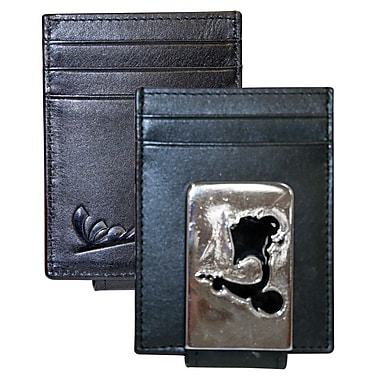 Vespa Front Pocket Wallet with Magnetic Money Clip; Black