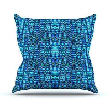 KESS InHouse Variblue Throw Pillow; 26'' H x 26'' W