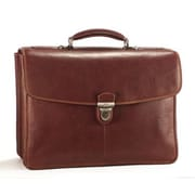 Tony Perotti Green Bella Russo Leather Laptop Briefcase; Brown