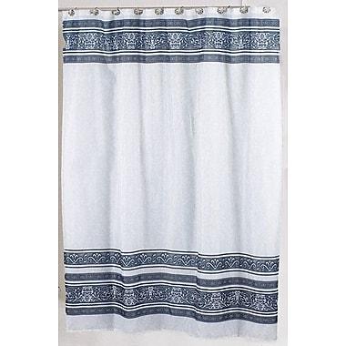 Carnation Home Fashions Fleur Shower Curtain; Silver