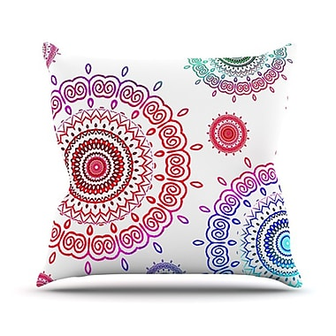 KESS InHouse Rainbow Infinity Throw Pillow; 18'' H x 18'' W