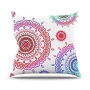 KESS InHouse Rainbow Infinity Throw Pillow; 18'' H x 18'' W