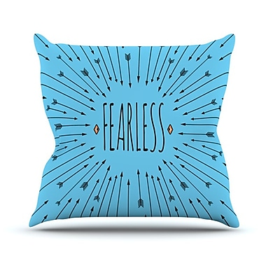 KESS InHouse Fearless Throw Pillow; 26'' H x 26'' W