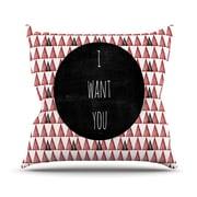 KESS InHouse I Want You Throw Pillow; 18'' H x 18'' W
