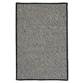 Colonial Mills Outdoor Houndstooth Tweed Black Rug; 2' x 3'