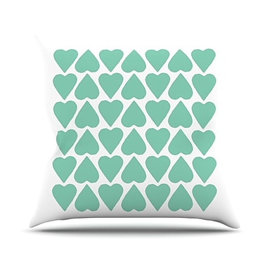KESS InHouse Up and Down Hearts Throw Pillow; 18'' H x 18'' W