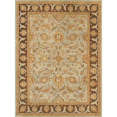 Continental Rug Company Meadow Breeze Light Spruce/Brown Rug; 5' x 8'