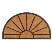 Imports Decor Molded Sun Half Round Doormat; 18'' x 30''