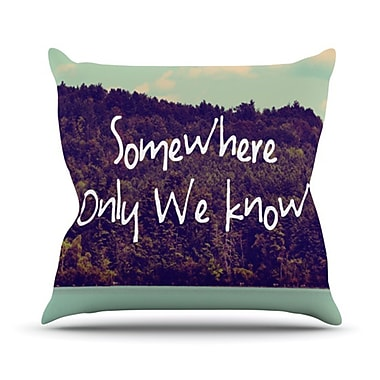 KESS InHouse Somewhere Throw Pillow; 18'' H x 18'' W