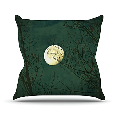 KESS InHouse Kiss Me Goodnight Throw Pillow; 20'' H x 20'' W