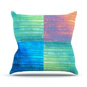 KESS InHouse C BatikThrow Pillow; 18'' H x 18'' W