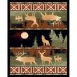 DonnieAnn Company Lodge Design Wolf and Deer Novelty Rug; 7.17' H x 5.17' W x 0.25' D