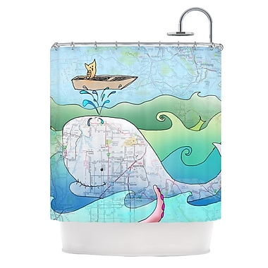 KESS InHouse I'm on a Boat Shower Curtain