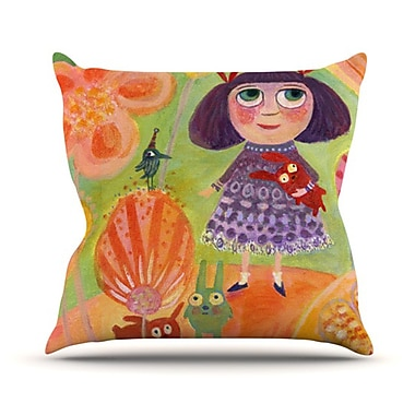 KESS InHouse Flowerland Throw Pillow; 18'' H x 18'' W