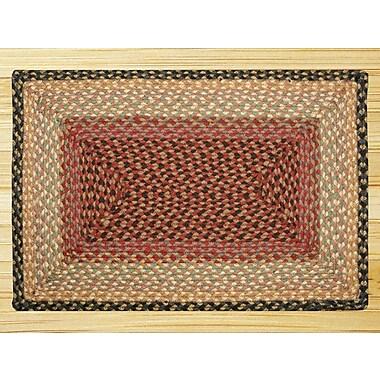 EarthRugs Burgundy/Gray/Cr me Braided Area Rug; 1'8'' x 2'6''