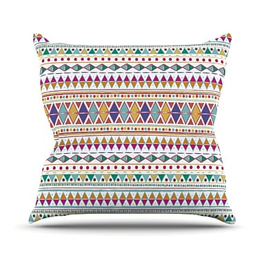 KESS InHouse Native Fiesta Throw Pillow; 20'' H x 20'' W