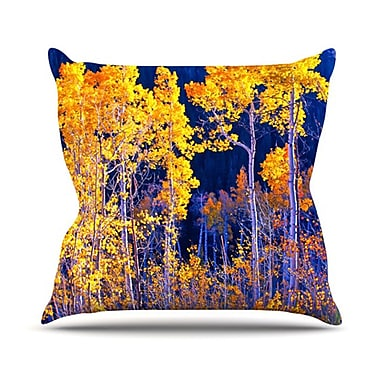 KESS InHouse Aspen Trees Throw Pillow; 20'' H x 20'' W
