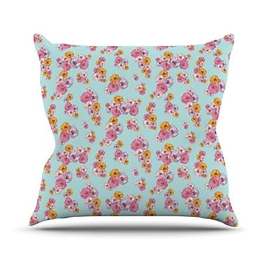 KESS InHouse Paper Flower Throw Pillow; 26'' H x 26'' W
