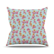 KESS InHouse Paper Flower Throw Pillow; 20'' H x 20'' W
