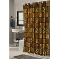 Carnation Home Fashions Ez On Wild Encounter Fabric Shower Curtain; Extra Long