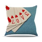 KESS InHouse Love Throw Pillow; 18'' H x 18'' W