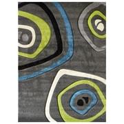 DonnieAnn Company Studio 600 Charcoal Geometric Area Rug; 7' x 5'