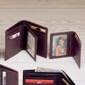 Winn International Cowhide Nappa Leather Two Fold Wallet II; Brown