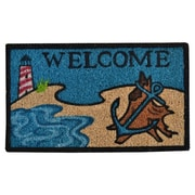 Imports Decor Creel Beach Lighthouse Doormat; 30'' x 18''