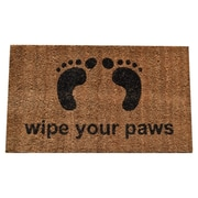 Imports Decor Molded Wipe Your Feet Doormat; 30'' x 18''