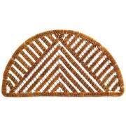 Imports Decor Twisted Spiral Semi Circle Triangle Doormat; 18'' x 30''