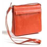 Tony Perotti Green Messenger Bag; Orange