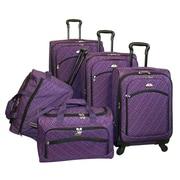 American Flyer Plaid 5 Piece Luggage Set