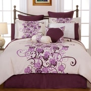 Pointehaven Grapevine 8 Piece Bed in a Bag Set; Queen